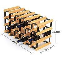 HLL キャビネットワインラックインサートハニカム拡張可能な積み重ね可能な木製の独立した省スペースワインラック大容量家庭用、ワインセラー、バー、ワインショー,60 * 23.5 * 32.5cm,60 * 23.5 * 32.5cm
