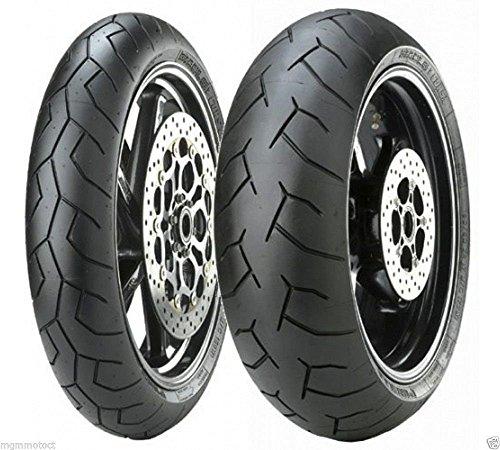 Par de llantas, neumáticos Pirelli Diablo de carretera para Kawasaki Z750,tamaño delantero...