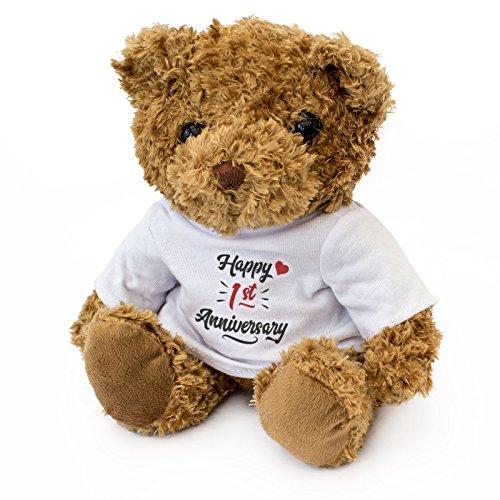 NEW - Happy 1st Anniversary - Teddy Bear - Cute Soft Cuddly - Gift Present 1 Year