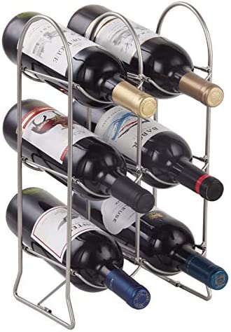Buruis 6 Bottle Countertop Wine Rack Free Standing Wine Holder for Red White Wine Storage Foldable product image