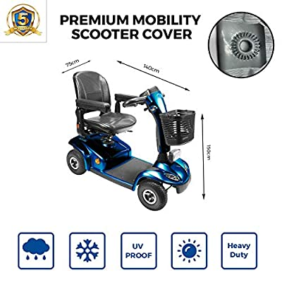 Yuzet Reinforced Mobility Scooter Cover Storage Rain Waterproof Disability Protector