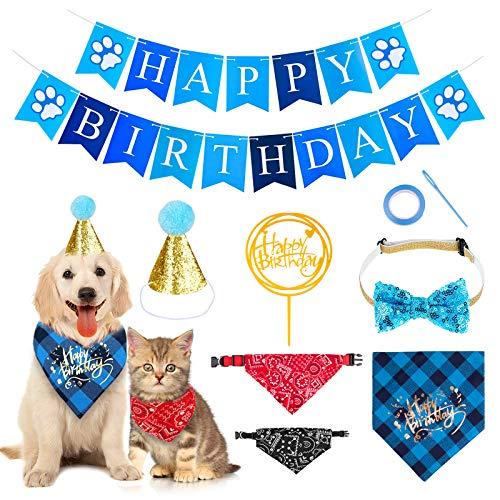 Dog Birthday Bandana Hat Banner ...