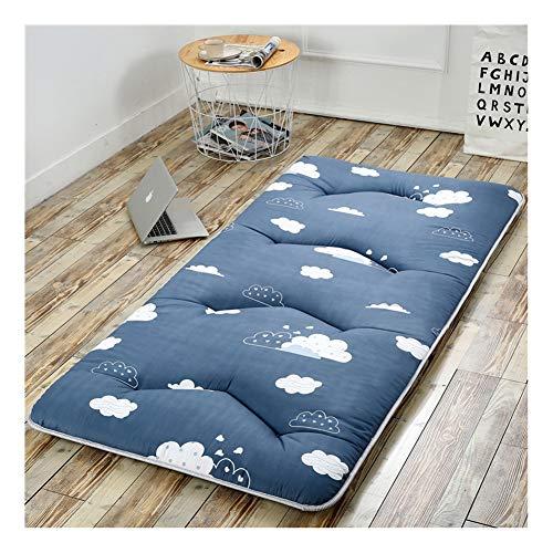 WSGJHB Japanse Tatami vloer matras slaapkussen anti-slip ademende studentenslaapzaal opvouwbare matras Futon matras topper enkele tweepersoonsbed matras 80x190cm(31x75