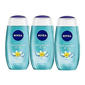 Nivea Frangipani and Oil Shower Gel, 250ml (Pack of 3)