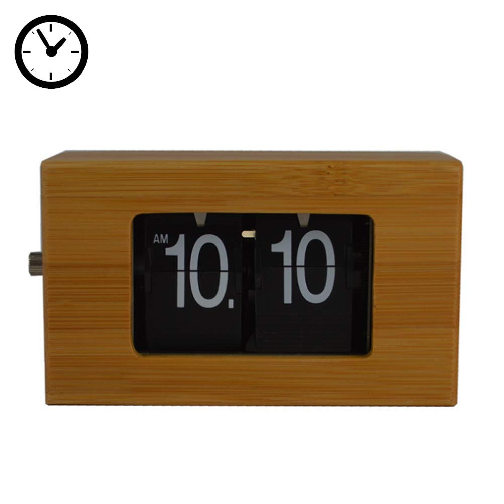 Zinnor Auto Flip Clock Best-mall Stylish Modern Simple Retro Vintage Clock Desk Table File Down Page Clock 【2 AA Battery not Included】