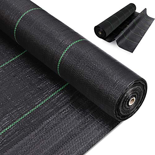 iropro 3mx10m Weed Membrane Control Fabric Heavy Duty Ground Cover Membrane...
