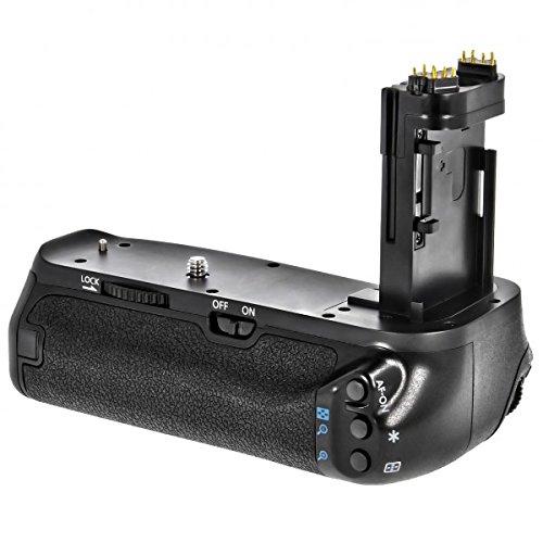 Empuñadura de batería Minadax para Canon EOS 7D Mark II para 2 x LP-E6 baterías, similar a Canon BG-E16