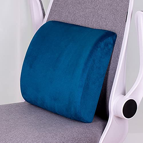CNYG Cojín de espuma viscoelástica para interiores y exteriores, para silla de jardín, sofá de mascotas, felpa, decoración de hogar, oficina, azul, 32 x 31 x 10 cm