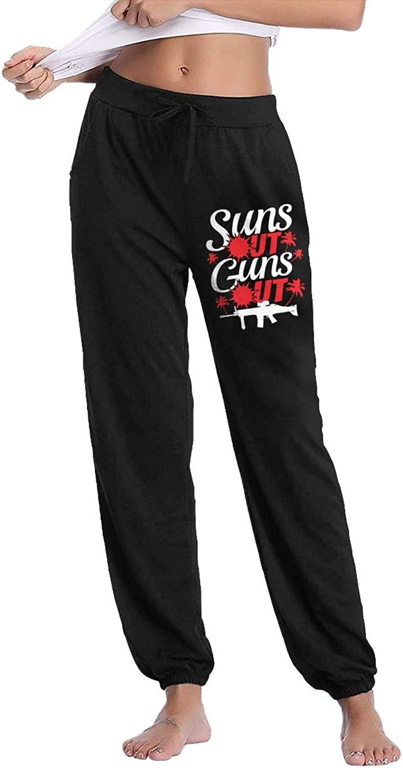 Women's Suns Out Guns Out Jogger Stretch Pants With Pockets