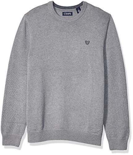 Chaps Herren Classic Fit Cotton Crewneck Sweater Pullover, Steel Heather, Groß