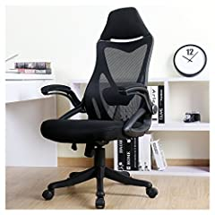 The integrated frame is stable and durable for using and contoured breathable mesh back make you feel comfortable during long time working. Built-in lumbar support and headrest help you been in right sitting posture for protecting your neck and waist...