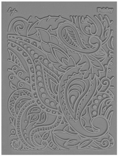 JHB International Inc Great Create Lisa Pavelka Individual Texture Stamp 4.25'X5.5' 1/Pkg-Paisley