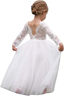 6dabf25bf56 2Bunnies Girl Peony Lace Back A-Line Straight Tutu Tulle Party Flower Girl  Dresses