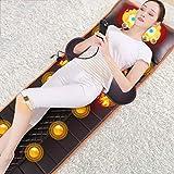 JJDD'G Matelas Massant Chauffant, Vibration + Chauffage + pétrissage par Rotation Positive et négative + Calage, avec télécommande Relaxation des Maux Musculaires