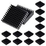 HSEAMALL Kit de disipador de calor de 40 mm, 40 mm x 40 mm x 11 mm, aluminio disipador de calor, color negro