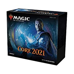 KICKSTART YOUR COLLECTION. Your Bundle has 10 Draft Booster Packs to help fill your deck with timeless favorites from Magic: The Gathering's Core Set 2021 (M21). GET MORE THAN PACKS. Full of cards and accessories, this Bundle is the perfect gift for ...
