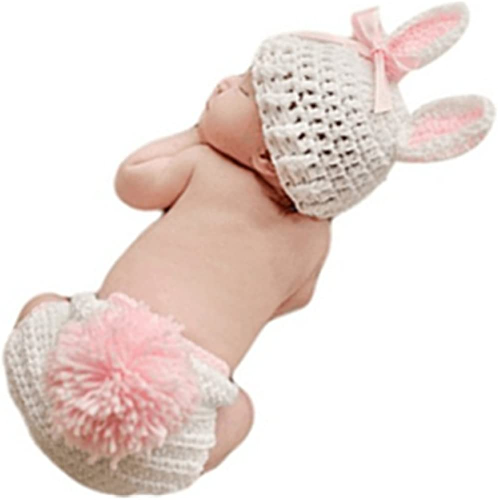 Newborn Baby Bunny Rabbit Crochet Newb Props Max 85% National products OFF Knitted Photography