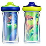 Disney/Pixar The Good Dinosaur ImaginAction Insulated Hard Spout Sippy Cups 9 Oz - 2 Pack | Scan with Free Share the Smiles App for Cute Animation
