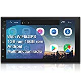 WZTO Double Din Car GPS Navigation Stereo, 7 inch Quad-Core Android 8.1 Touch
