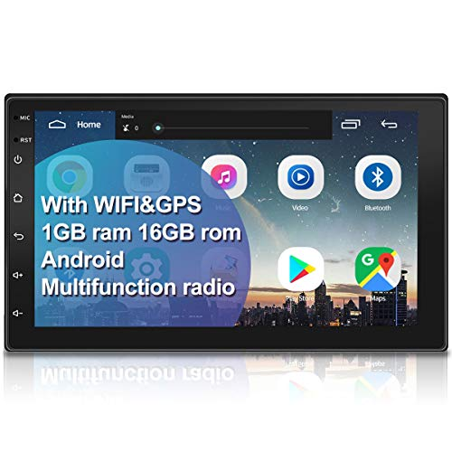 WZTO Double Din Car Stereo with GPS Navigation,7 inch Quad-Core Android 9.1 Touch Screen in Dash...