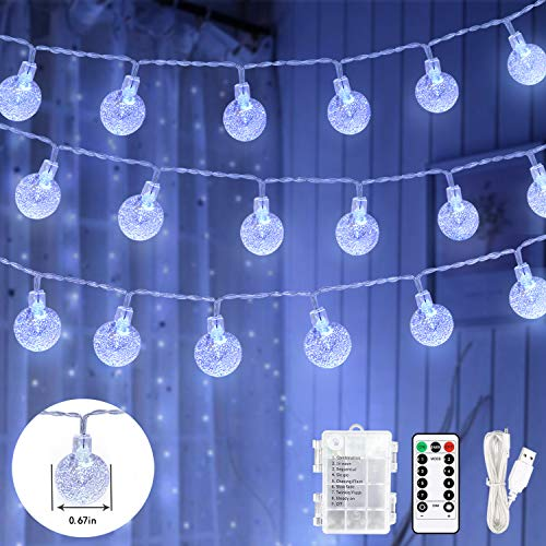 Fairy String Lights,59Ft 100 LED Globe String Lights with Remote, USB or...