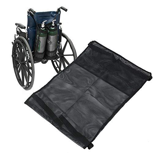 SUYUDD Doppel-Sauerstoff-Zylindersack für Rollstuhl, Rollator, Sauerstofftank-Halter mit schöner Netz-Aufbewahrungstasche für medizinisches Zuhause, Krankenhaus