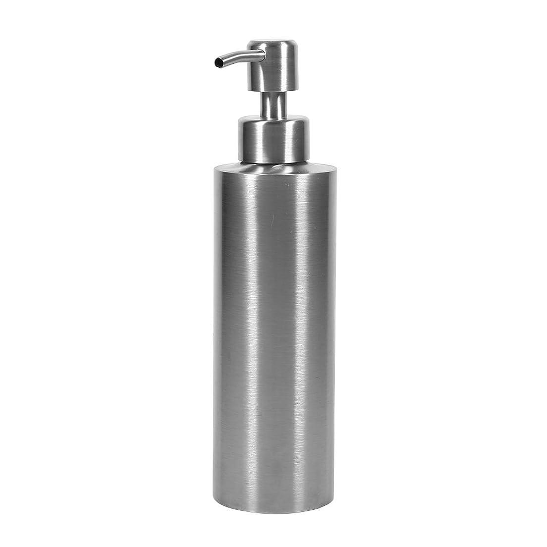 目立つ侵入ケーキ304 ステンレス鋼 シンクソープディスペンサー シンク ソープ シャンプー用ディスペンサー 350ml 石鹸液 ハンドソープ 洗剤 メタル ボトル ポンプ付き キッチン、トイレに適用