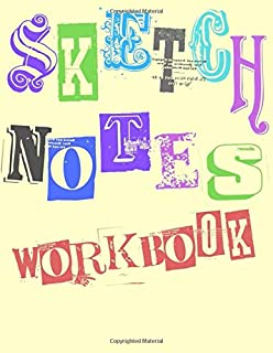 Sketchnotes Workbook: Blank Pages With Templates for Sketchnoting, Mind Mapping, Visual Thinking, Doodling - Large 8.5
