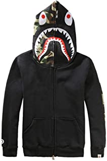 New Bathing Ape Bape Jacket Men Shark Head Full Zip Hoodie Sweater Jacket