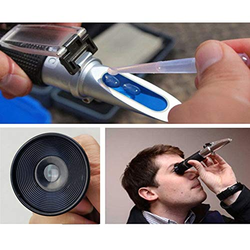 Honey Refractometer for Honey Moisture, Brix and Baume, 3-in-1 Uses, 58-90% Brix Scale Range Honey Moisture Tester, with ATC, Ideal for Honey, Maple Syrup, and Molasses, Bee Keeping Supplies