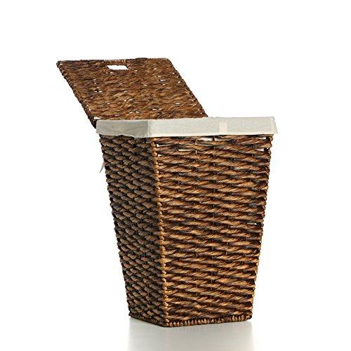 Casa Mina Wäschekorb Wäschebox Wäschesammler aus Wasserhyazinthe Brunei braun 61cm - 3