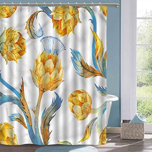 Glaube Duschvorhang Artischocke Aquarell Gemüse Badezimmer Duschvorhang