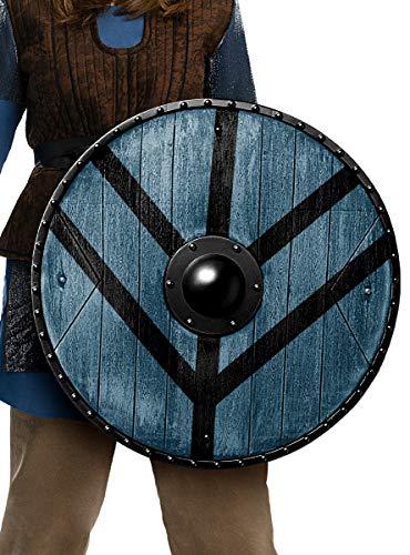 Funidelia | Escudo de Lagertha Lothbrok Vikings Oficial para Hombre y Mujer Vikings, Vikingos, Brbaro, Nrdico - Multicolor, Accesorio para Disfraz