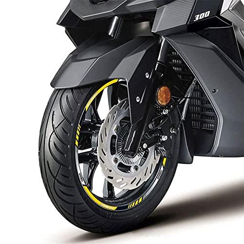 Etiquetas engomadas decorativas de la motocicleta Calcomanía Delantera Y Trasera De Motocicleta, Pegatina Reflectante Completa Para Llanta De Rueda Pegatina De Rayas Para Y-AMAHA Nmax Smax NVX155