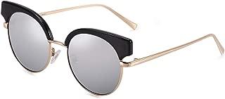 Retro Polarized Sunglasses Semi Rimless PARZIN Women Cateye Eyewear PZ9907