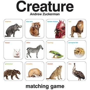 Creature Matching Game (by Andrew Zuckerman, Memory Matching Games for Toddlers, Animal Matching Games for Kids, Preschool Memory Games)
