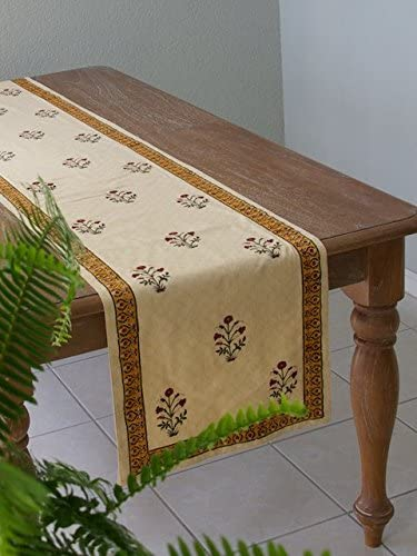Red Poppy ~ Elegant Direct sale of manufacturer Floral Banquet runner Manufacturer regenerated product India 18x108 Table