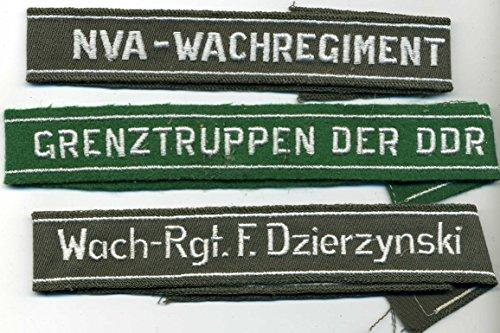 LAGERMAULWURF.de 3 STK NVA Ärmelband für NVA Uniform DDR MFS FDJ NVA Artikel