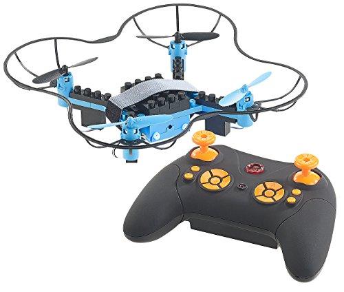 Simulus Drohne Bausatz: Quadrocopter-Bausatz, 38-teilig, 2,4-GHz-Fernbedienung, 3D-Flugmanöver (Drohnenbausatz)