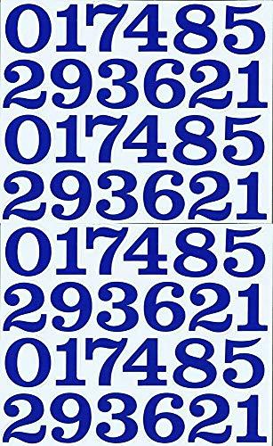 (シャシャン)XIAXIN 防水 PVC製 数字 ナンバー ステッカー セット 耐候 耐水 ローマ字 数字 キャラクター 表札 スーツケース ネームプレート ロッカー 屋内外 兼用 TS-137 (2点, ブルー)