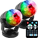 Remote Control Portable Sound Activated Party Lights for Outdoor and Indoor, Battery Powered