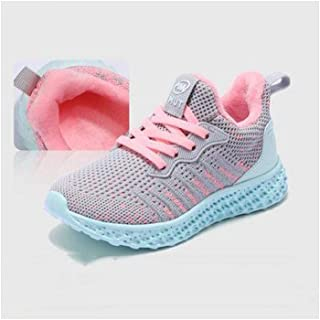 QH Shepherd Girls Shoes, Autumn Mesh Breathable Sneakers, Boys Net Shoes in The Big Children Running Shoes Winter