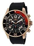 Invicta Men's 13731 Pro Diver Chronograph Black Carbon Fiber Dial Black Polyurethane Watch