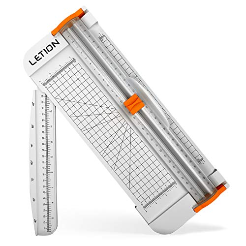 Paper Cutter, A4 Paper Trimmer Titanium Scrapbooking 12 inch with Automatic...