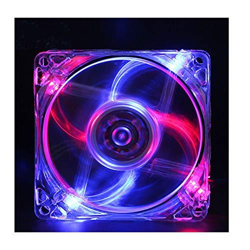 Ventilador CPU Ventilador RGB Más Brillante Efectos Iluminación LED CPU Caja Computadora Ventilador Silencioso Interfaz Fuente Alimentación Dual Motor Núcleo Cobre Colorido Luz Roja Luz Azul