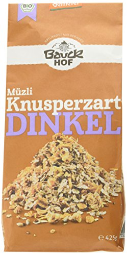 Bauckhof Dinkel Müsli, Knusperzart, 4er Pack (4 x 425 g)