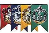 Jintong 4Pcs 30 * 50cm Suministros para Fiesta De Cumpleaños de Gryffindor, Banderines Bandera Harry para La Universidad Potter Decoración Halloween para Niños Y Niñas