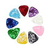 10X Toruiwa Gitarre Plektrum Plektron Picks gemischt Farbe Zelluloid Pick Plektrum Mediatoren für Gitarren Bässe Bass-Gitarre Zufällige...