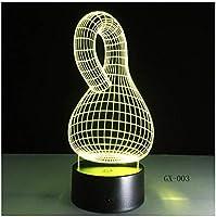 3Dイリュージョンナイトライト 抽象ボトル スマートタッチ 3Dランプオプティカル7色段階的に変化する子供用LEDライトスマートタッチベッドサイドランプベッドルーム男の子用ホームデコレーションクリスマスギフト
