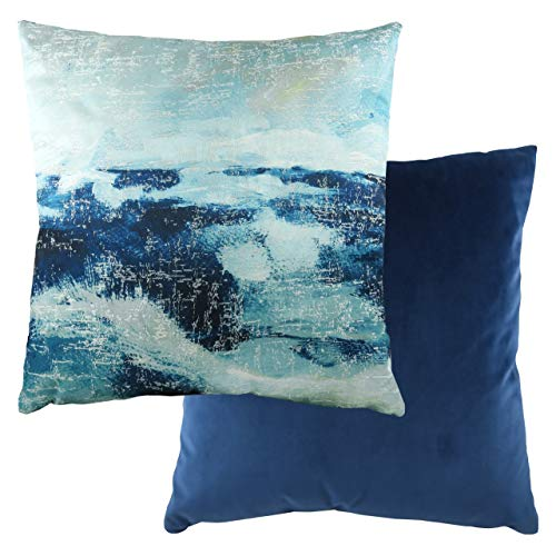 Evans Lichfield Landscape Polyester Filled Cushion, Royal, 43 x 43cm